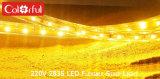Luz de tira del alto voltaje 100m/Roll 220-240V LED