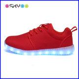 7 zapatos ligeros luminosos del deporte de los colores LED