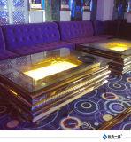 Fabricación de la fábrica Acero inoxidable de oro con los vidrios Muebles de la tabla del té