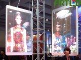 Piscina Interior transparente de vidro display LED para publicidade (P3.9, P5).
