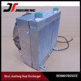 Réfrigérant à huile hydraulique en aluminium brasé d'excavatrice d'ailette de plaque