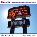 Afficheur LED P10/écran/panneau-réclame/signe/panneau extérieurs polychromes imperméables à l'eau