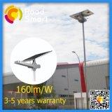 Installation facile 15-50W tout dans les réverbères un solaires Integrated