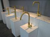7 ans de filigrane d'or balayé par garantie de mur de mélangeur de luxe de salle de bains