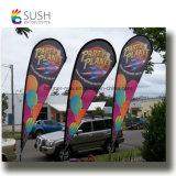 Pôle de fibre de verre personnalisé Teardrop Beach Feather battant pavillons (SU-FG22)
