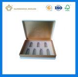 Spitzenfarbenreicher gedruckter Pappkosmetischer Luxuxkasten für Duftstoff (mit Dekoration des silk Papiers)