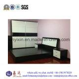 Mobília branca preta do quarto da melamina da cor (SH-030#)