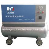 Le compresseur exempt d'huile de défilement partie l'extrémité d'air