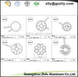 Disipador de calor de aluminio del perfil que pinta (con vaporizador)/producto de aluminio