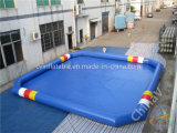 Квадратный голубой раздувной плавательный бассеин для сбывания