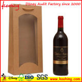 Botella barato caliente Estampación en relieve Fantasía vino bolsa de papel del regalo / la impresión de encargo reciclado PAPR bolsa de regalo