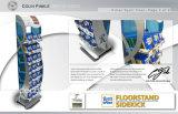Soporte de visualización acanalado de la cartulina de la visualización de la tarjeta de papel para la venta al por menor