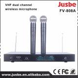 Microfono senza fili di karaoke di VHF KTV con opzione della cuffia avricolare del collare