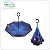 Paraguas invertido maneta a prueba de viento de G del doble