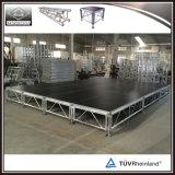 no estágio ao ar livre portátil do DJ da plataforma de madeira de alumínio da venda