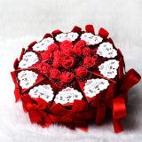 호화스러운 Handmade 결혼식 종이 사탕 선물 수송용 포장 상자