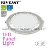 2017 luz de painel de prata Electroplated do diodo emissor de luz do alumínio 12W do produto novo
