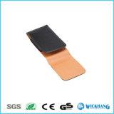 Caisse en cuir lustrée verticale de poche d'étui de clip ceinture pour l'iPhone 8