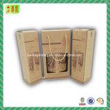 Rectángulo de papel acanalado de lujo con Custome impreso para el vino