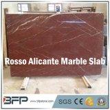ホテルのステアケースのための卸売価格のRossoアリカンテの赤い大理石の平板