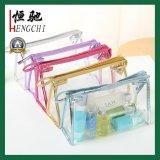 Glas Klare PVC Toilettenartikel Kosmetiktasche Kosmetiktasche mit Reißverschluss