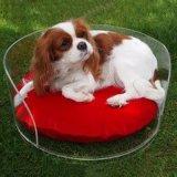 Het aangepaste Bed van de Hond van het Huisdier van het Kussen van het Ontwerp Acryl