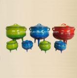 3本の足を搭載する#8 Preseasonedの鋳鉄のPotjieの鍋