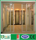Porte coulissante standard en aluminium australien avec verre trempé clair Pnoc005