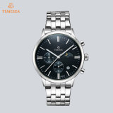 Spitzenchronograph-Quarz Rolexable ledernes &Steel Band Wristwatch71166