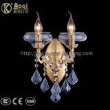 El agua Goldend Cristal Azul Lámpara de Pared de hierro