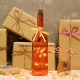 Decor van de Tuin van Kerstmis van Kerstmis van de Batterij van de Fee het Lichte aa van het Koord van de oranje 10 LEIDENE Fles van de Ster