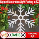 白いフラッシュ大きい雪片のクリスマスの屋外の装飾の動きLEDライト