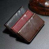 Случаи кожи бумажника роскошного кожаный Flip всеобщие с зажимом пояса