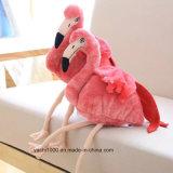 Hand - de gemaakte Genaaide Flamingo van het Stuk speelgoed van de Pluche