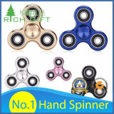 Factory Direct Hand Toy Fingertip / Finger Tri Gyroscope Fidget Spinner / Plástico / Metal / Bearing / Alumínio / LED Light / Ball / Gyro / Rainbow EDC Stress Hand Spinner