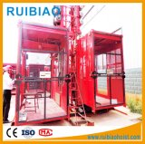 Подъем пассажира клетки Gjj Sc100/100td цены по прейскуранту завода-изготовителя двойной