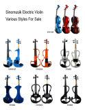 Prix bon marché du violon 4/4 électrique avec la caisse de violon