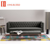 Нордический софа хлопко-бумажная ткани типа Tufted мебелью обитая бархатистая для гостиницы