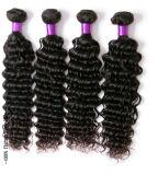 加工されていない人間の毛髪の拡張深い波の巻き毛の卸し売りバージンのRemyのインドの毛、ブラジルの毛、モンゴルの毛、マレーシアの毛