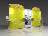 Slatwallおよびパンフレットが付いている携帯用展示会の表示