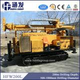 Буровое оборудование добра воды руки Hfw200L