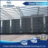 Installation d'entrepôt en acier préfabriqué Installation d'entrepôt sur sol en béton
