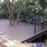 Plancher extérieur en bois solide WPC de couleurs facultatives antioxydantes modernes