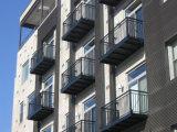 Rete fissa rivestita del balcone della polvere libera semplice moderna di manutenzione con obbligazione