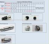 Hr10 시리즈 똑바른 잭 4 Pin 산업 금속 원형 연결관