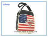 Saco macio de couro do lazer do projeto da bandeira do plutônio EUA