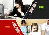 人間の特徴をもつiPhoneのための1つのマイクロUSB電光同期信号充電器ケーブルに付き2つ