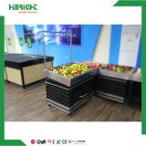 Fruto de metal y madera Mostrar estantes Rack para Supermaket