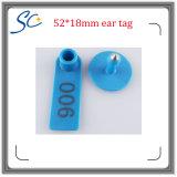 52*18mm TPU 물자 Laser 수 인쇄할 수 있는 양 귀 꼬리표