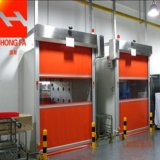 Portello automatico veloce di Industril del portello di piegatura del PVC Frameless (HF-J323)